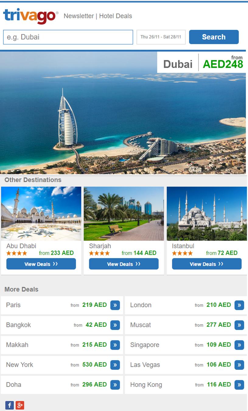 Trivago – Email Marketing - Blog | Bulk SMS Dubai